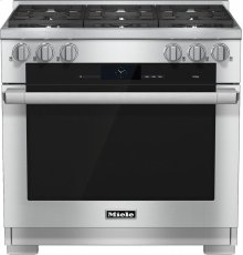 HR 1934 G 36 inch range Dual Fuel with M Touch controls, Moisture Plus and M Pro dual stacked burners