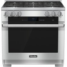 HR 1934-2 G 36 inch range Dual Fuel with M Touch controls, Moisture Plus and M Pro dual stacked burners