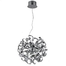 2068 Tiffany Collection Pendant D:19in H:19in Lt:9 Chrome Finish (Elegant Cut Crystals)