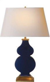 Visual Comfort AH3063MB-NP Alexa Hampton Anita 29 inch 100 watt Midnight Blue Porcelain Decorative Table Lamp Portable Light