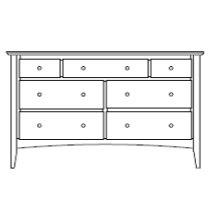 "Sedona 7 Drawer 60"" Dresser"