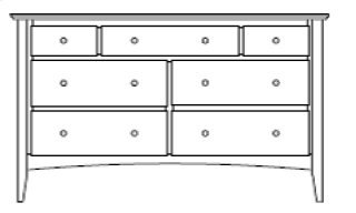 "Sedona 7 Drawer 60"" Dresser"