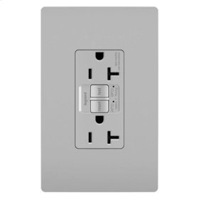 Dual Function Tamper-Resistant 20A AFCI/GFCI Receptacle, Gray