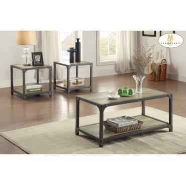 3-Piece Occasional Tables Cocktail Table: 39.5 x 19.75 x 17.75H End Table: 19.75 x 19.75 x 19.75H