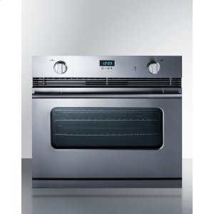 "Summit30"" Wide Stainless Steel Gas Wall Oven Made In Italy With Electronic Ignition and Digital Clock/timer"