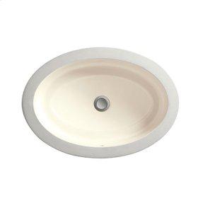 Pop Oval Under Counter Bathroom Sink - Biscuit