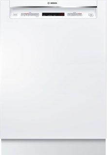 "300 Series 24"" Recessed Handle Dishwasher 300 Series- White SHE863WF2N"