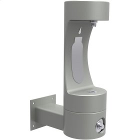 Elkay Outdoor ezH2O Bottle Filling Station Wall Mount, Non-Filtered Non-Refrigerated Freeze Resistant Gray