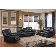8031 Black Reclining Loveseat