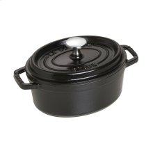 Staub Cast Iron 1-qt Oval Cocotte, Black Matte