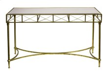 Gold Console Table, Mirror Top
