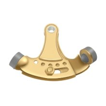 Hinge Pin Stop, Hinge Mounted, Adjustable - PVD Polished Brass
