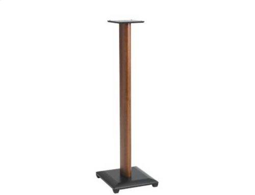 "Cherry 36"" Natural Series Wood Pillar Bookshelf Speaker Stands - Pair"