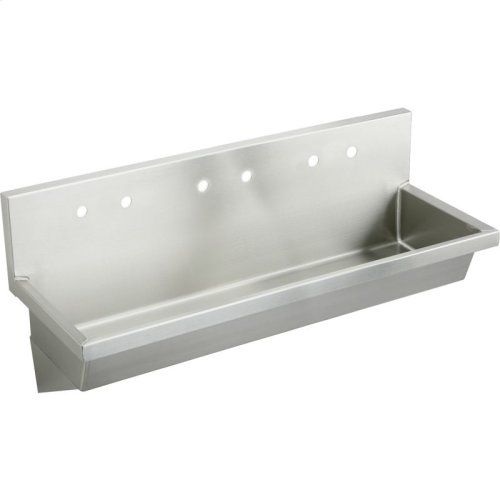 """Elkay Stainless Steel 72"""" x 20"""" x 8"""", Wall Hung Multiple Station Hand Wash Sink"""