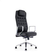 Modrest Tiller Modern Black High-Back Office Chair