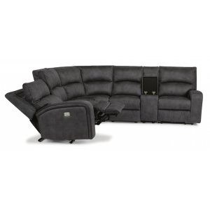 FLEXSTEELRhapsody Fabric Power Reclining Sectional with Power Headrests