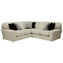 Armless Loveseat - Chocolate