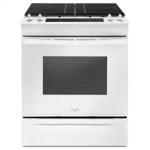 5.0 cu. ft. Front Control Gas Range with Cast-Iron Grates - WHITE