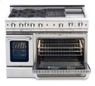 """48"""" four open top burner gas self-clean range w/ 24"""" Thermo-Griddle+ convection oven - NG Product Image"""