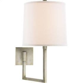 Visual Comfort BBL2029PWT-L Barbara Barry Aspect 14 inch 100 watt Pewter Finish Swing-Arm Wall Light