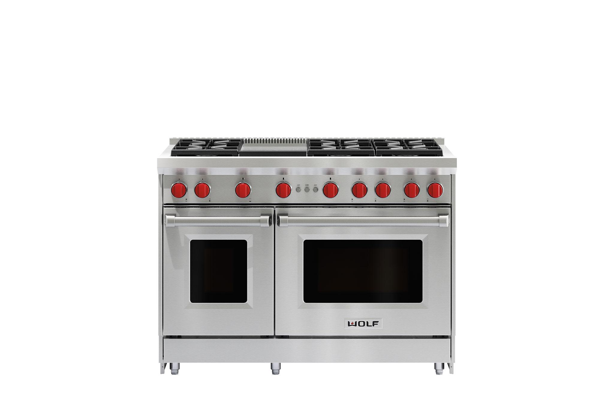 48 Gas Range 6 Burners And Infrared Griddle