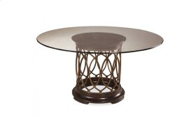 Intrigue Glass Top Dining Table
