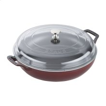 Staub Cast Iron 3.5-qt Braiser with Glass Lid, Grenadine