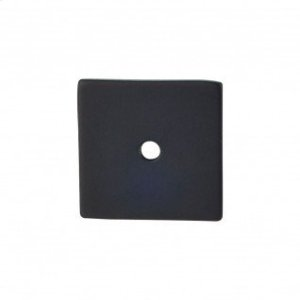 Square Backplate 1 1/4 Inch - Flat Black