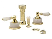 REGENT Four Hole Bidet Set K4273 - Polished Brass