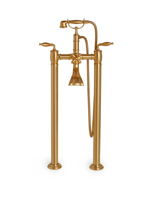 Polished Chrome Grey Series I Exposed Tub Set