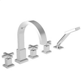 Satin Nickel - PVD Roman Tub Faucet with Hand Shower