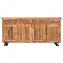 Mango Wood Mobile Storage Console