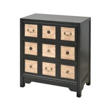 Vieira Distressed Black With Maple Chest