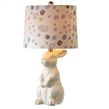 Rabbit Table Lamp with Dot Shade. 60W Max.