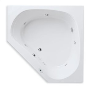 "Easy-Clean High Gloss Acrylic Surface, Corner, MicroSilk® Whirlpool Bathtub, Standard Package, 60"" X 60"""
