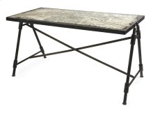 Bedeau Paris Glass Top Writing Desk