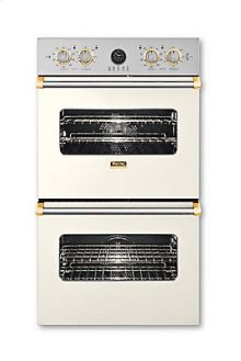 """27"""" Double Custom Electric Premiere Oven, Brass Accent"""