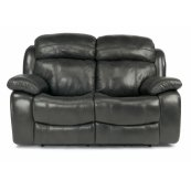 Como Leather Power Reclining Loveseat with Power Headrests