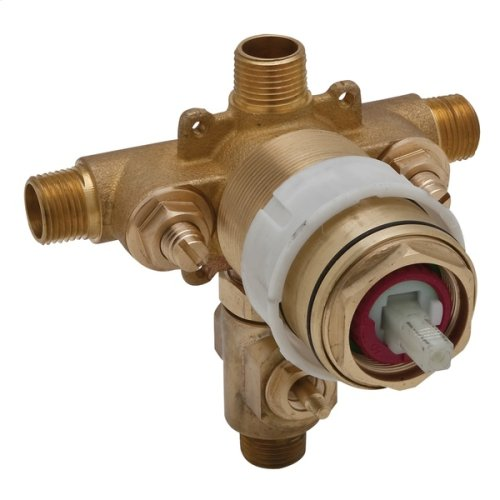 Pressure Balance Rough Valve With Integrated Volume Control With Diverter