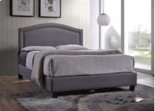 Light Gray Fabric Upholstered 3pc. Full Bed