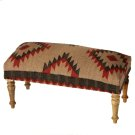 Red, Navy & Cream Tribal Kilim Bench Product Image