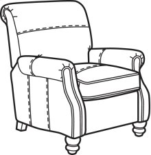 Bay Bridge Nuvo High-Leg Recliner without Nailhead Trim