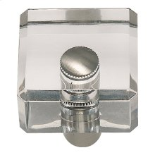 Optimism Square Knob 1 1/4 Inch - Brushed Nickel