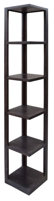 Bengal Manor Mango Wood Grey Corner Etagere