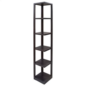 CRESTVIEW COLLECTIONSBengal Manor Mango Wood Grey Corner Etagere