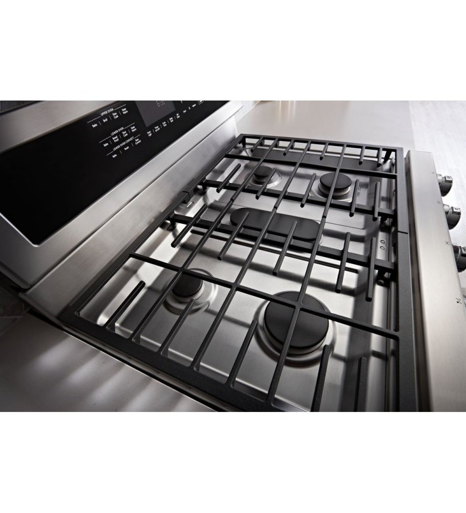 Kitchenaid 30 Inch 5 Burner Gas Double Oven Convection Range Stainless Steel
