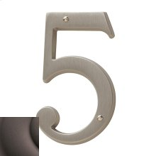 Distressed Venetian Bronze House Number - 5