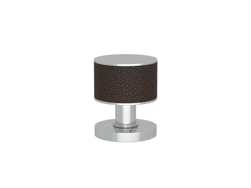 Stacked Shagreen Recess Amalfine In Cocoa And Bright Chrome