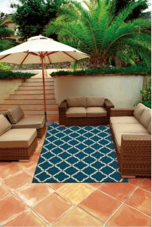 Portico Por01 Navy Rectangle Rug 8' X 10'6''