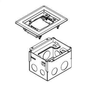 880W1817B Series One-Gang Steel Floor Box for Wood Floors